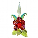 Statuette for interior glass Flowers Orchid