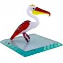 Pelican glass on a stand