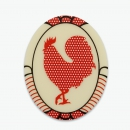 Fridge magnet Rooster with polka dots.